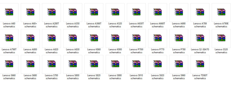 مجموعة من مخططات هواتف Lenovo ( اعادة رفع )