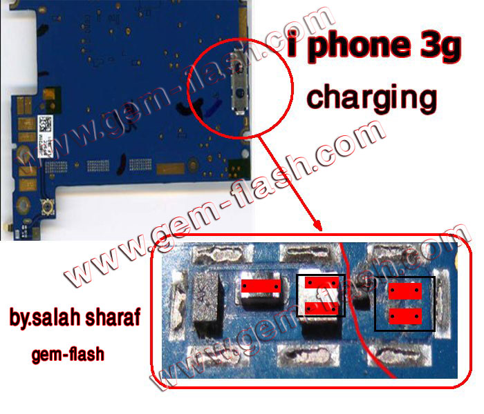 عطل الشحن iphone 3gs