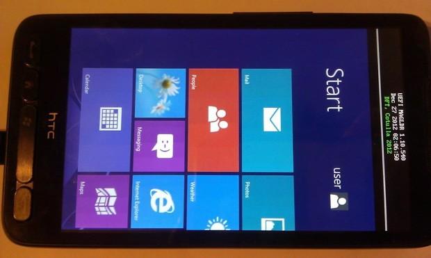 الهاتف المحمول HTC HD2 يعمل الآن بنظام الويندوز RT ويرفض أن يموت