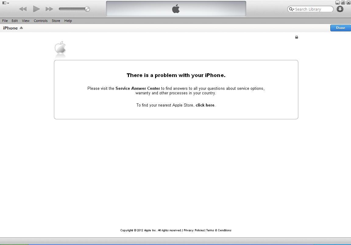 مشكله فى اكتفه Iphone 4G وبيعطينى رساله غريبه ممكن المساعده  !!