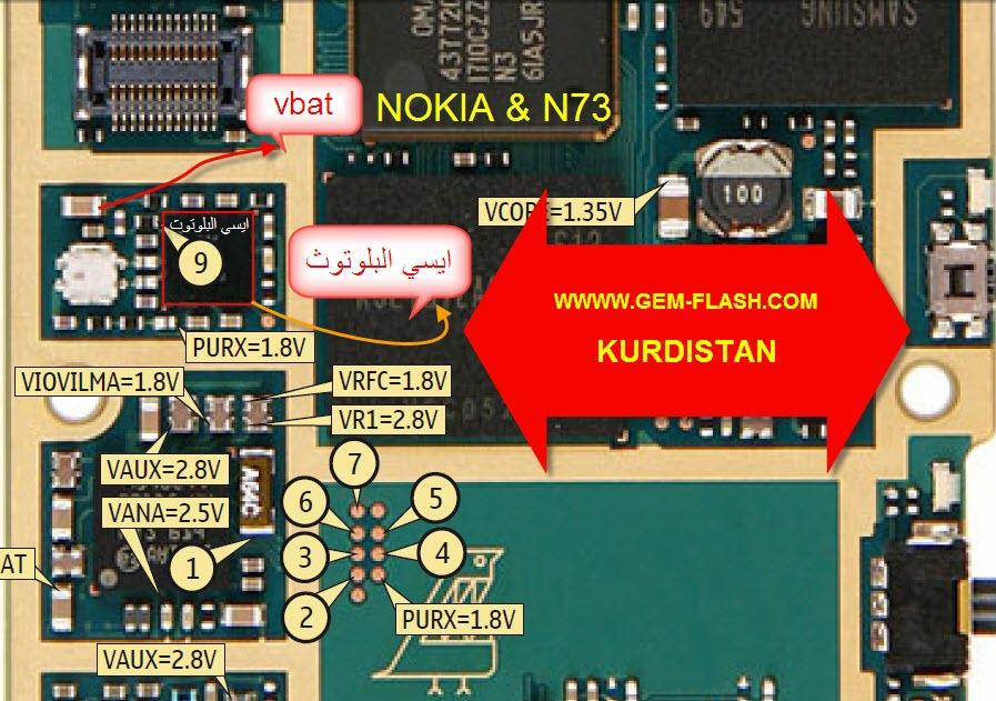 n73غير قادر على اداء عملية البلوتوث