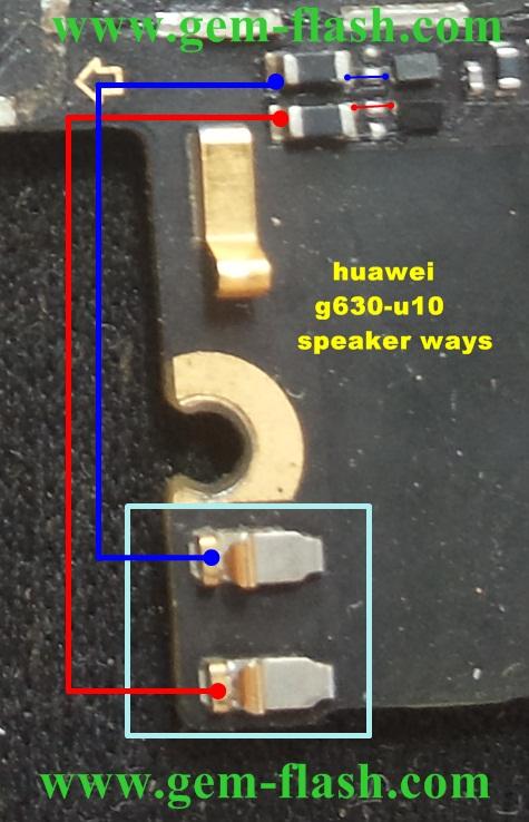 تشريح اعطال مسارات  هواوي     huawei g630-u10