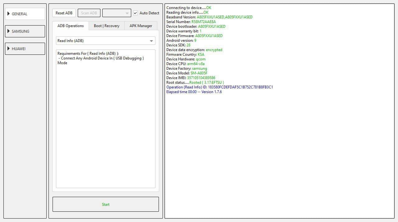 root samsung a80 A805F U1