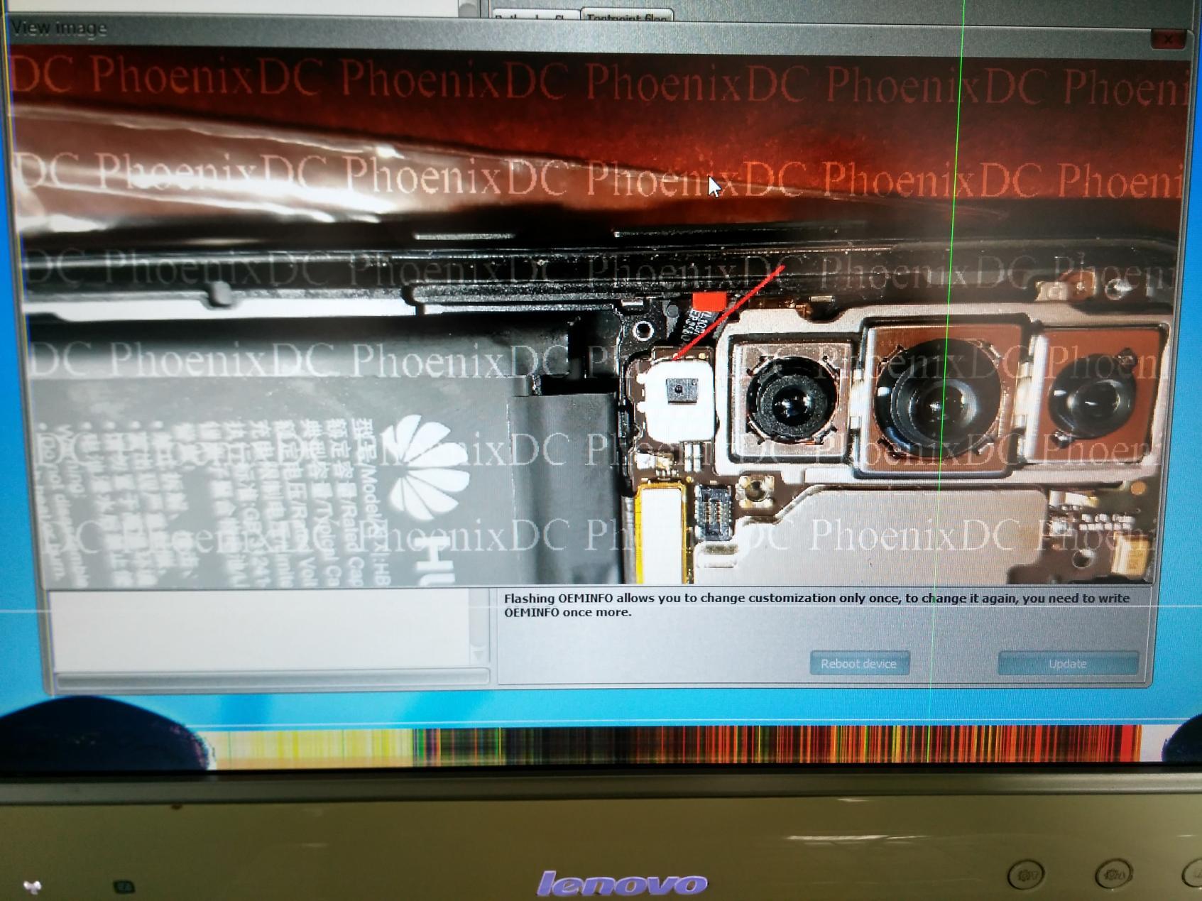 إزالة قفل غوغل عن جهاز Huawei P20 Pro بوضع com 1.0 بواسطة EFT Dongle