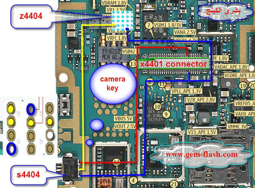 كبسة كامره لاتعمل n95 8g