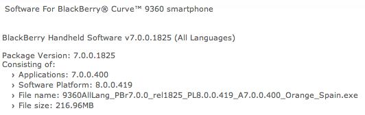 التحديث الثاني لجهاز 9360 بنظام OS.7