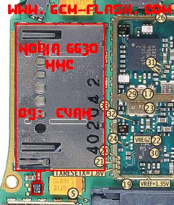 6630 لا يتعرف على كرت الميموري والكاميرا غير مدعومة
