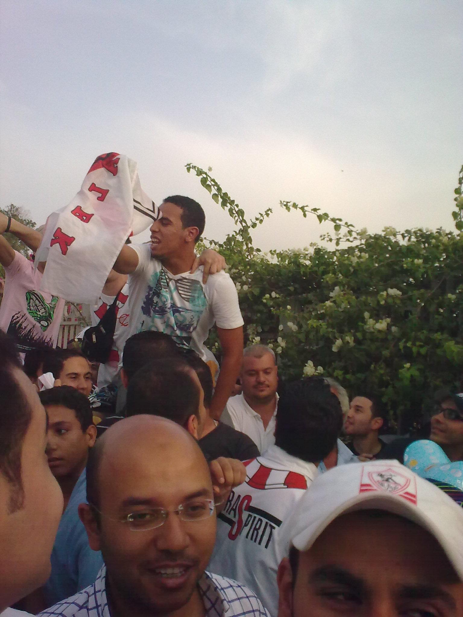 صوري وانا في الاستاد (الاهلي والزمالك26/5)
