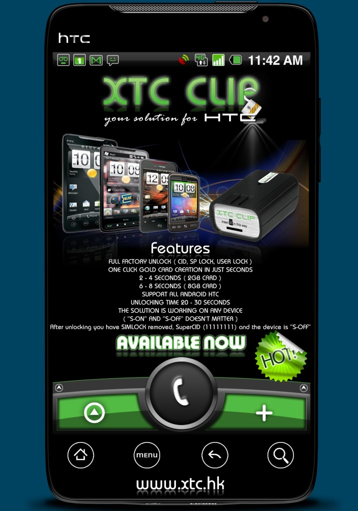 XTC Clip For HTC phone The Test in The Market