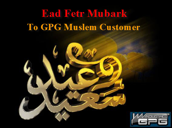happy Eid AL Fitr to all muslims from GPGIndustries