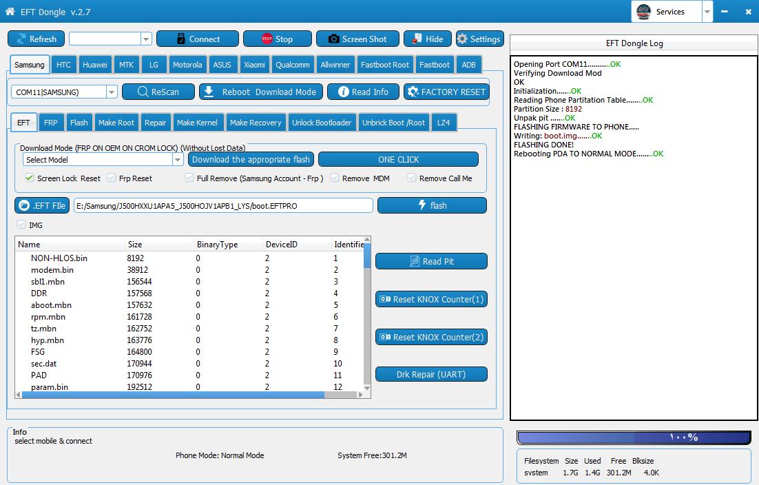 ازالة قفل الشاشة بدون فقدان البيانات لجهاز سامسونغ J5 (J500H) اصدار اندرويد 5.1.1 حماية FRP OFF