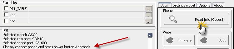طريقة فك شفرة c3322على z3x
