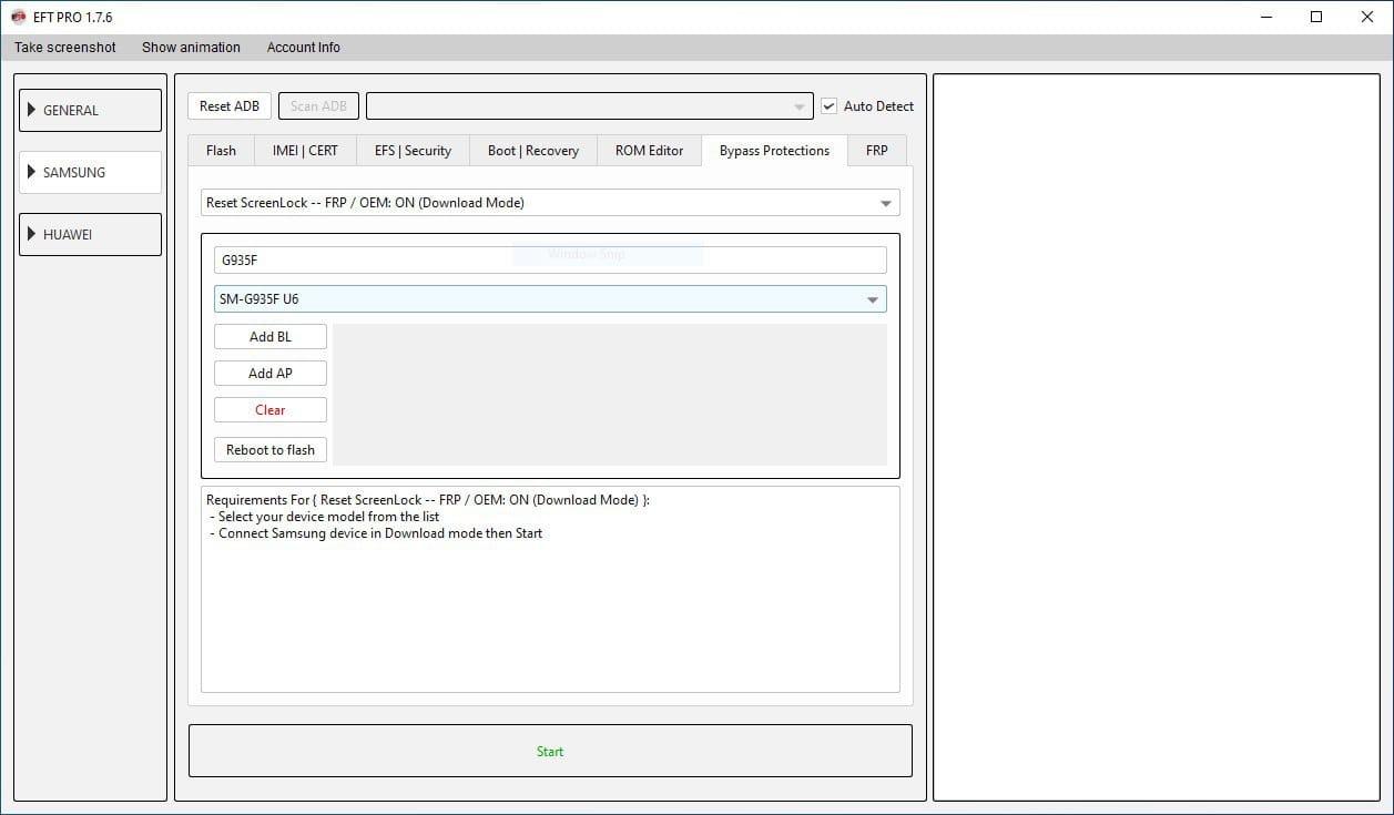 تم اضافة G935F U6 الى فك قفل شاشة بدون حذف بيانات مع FRP ON