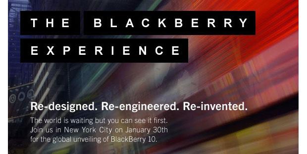 شركة RIM تنوي الكشف عن البلاك بيري 10 في 30 من يناير في نيويورك