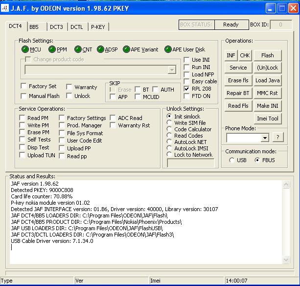 هل جاف فينوارb5 يعمل معJAF1.98.64