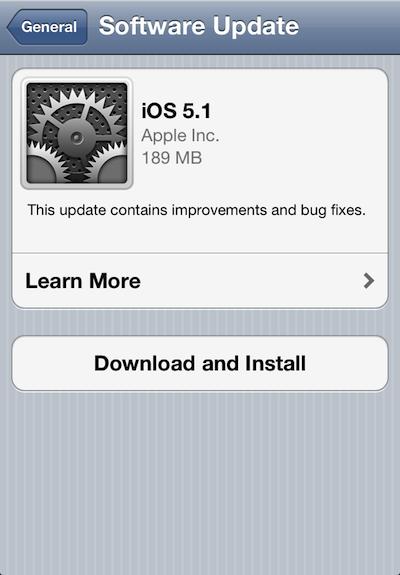 لا تحدث إلى iOS 5.1 وإلا سوف تفقد الجيلبريك