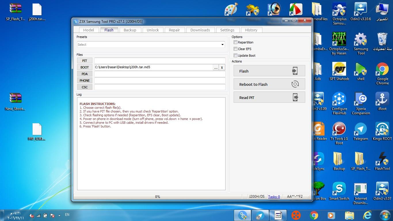 طريقة عمل UNLOCK وRESET FRP لجهاز J200Hعلى الجيم - الصفحة 1