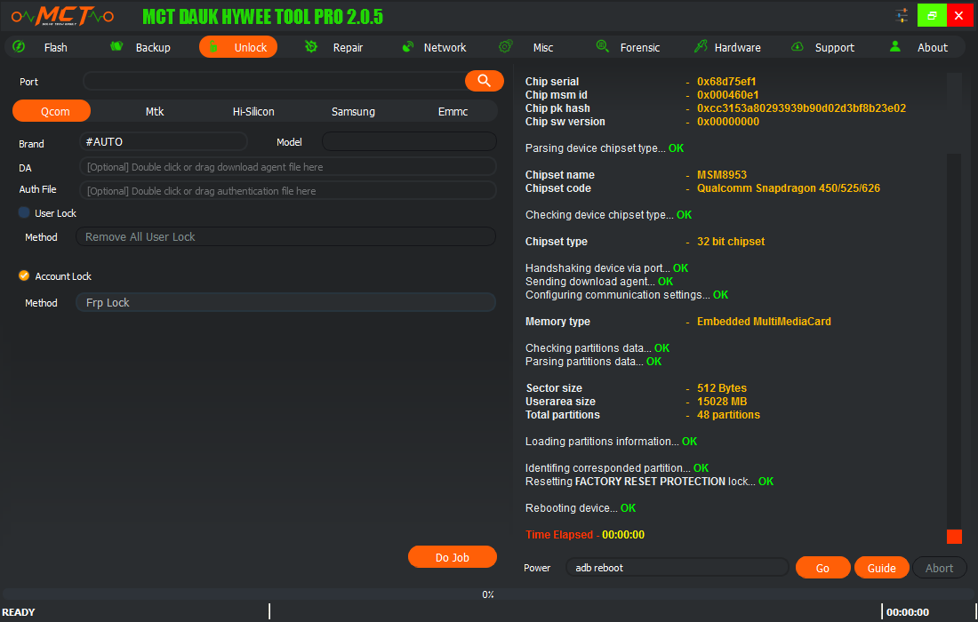 حذف frp كوندور Condor H1 بدون فلاش وبكبسة زر باستعمال MCT Pro