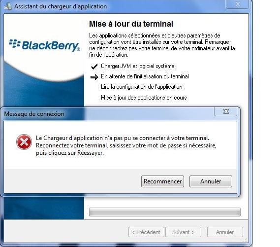 Blackbarry 9520 به مشكلة  ERROR 365 و USB-PIN: UNKNOWN
