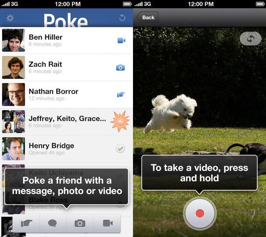 تطبيق Facebook Poke متوفر الآن على الأيفون والأيبود
