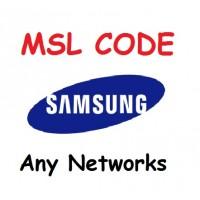 Msl samsung code service for all samsung