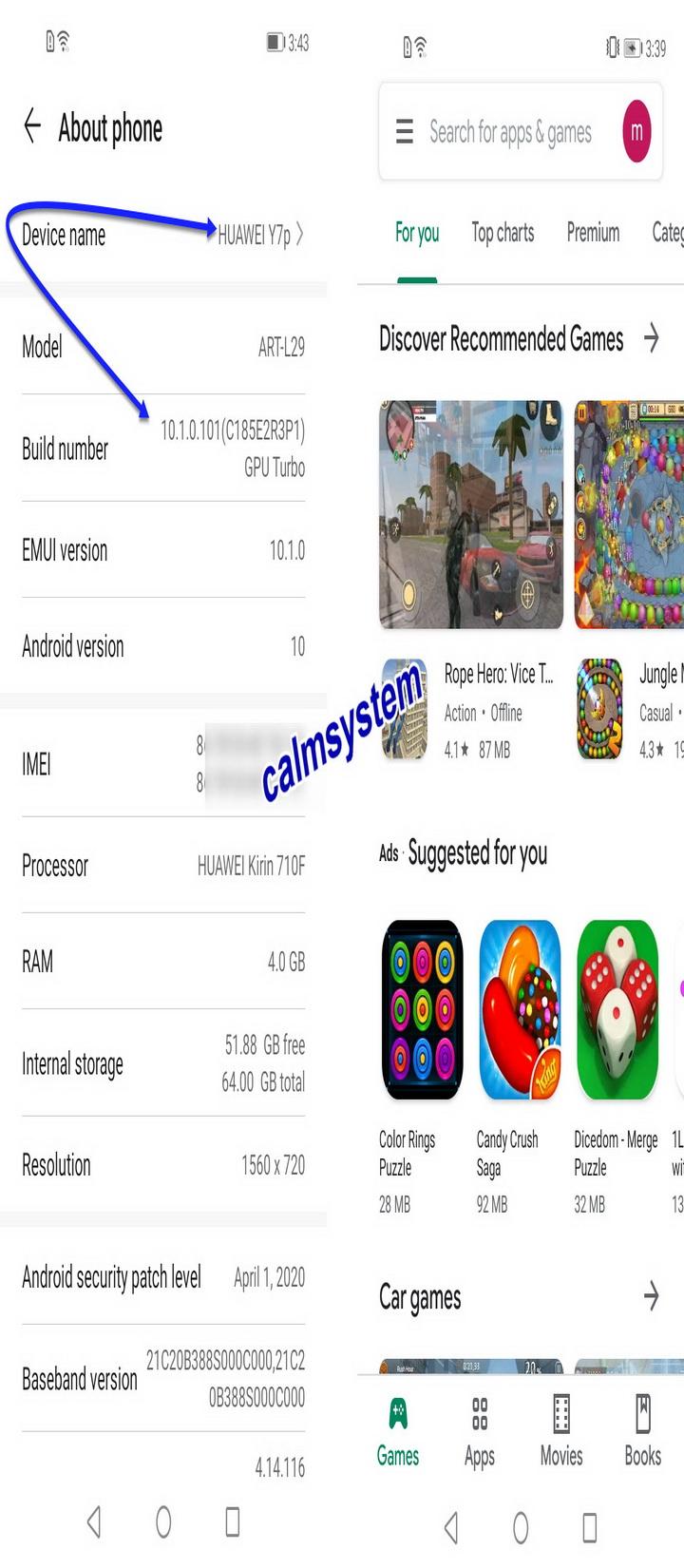 اضافت خدمات جوجل بلاي Huawei Y7P