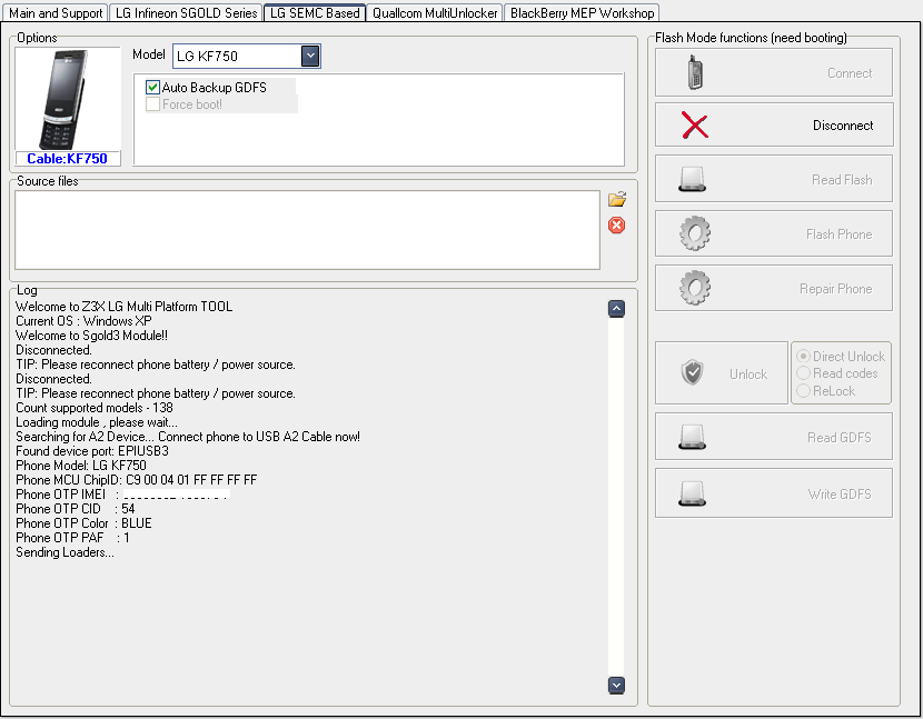 الطريقة الصحيحة والبسيطة لفك شفرة kf750 وغيره من فئة SEMCA2