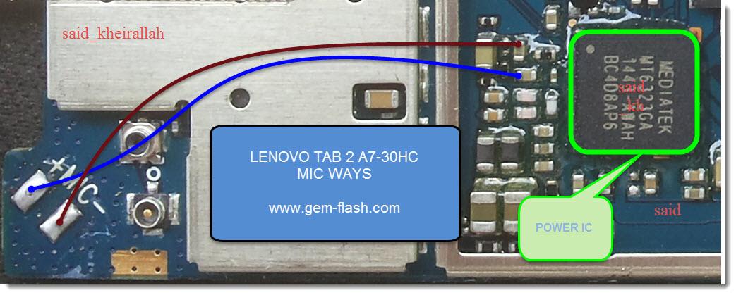 اعطال (شحن_سيم_جرس_مايك) لينوفو LENOVO TAB 2 A7-30HC - الصفحة 1