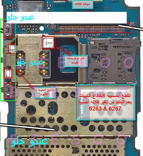 ممكن مساعدة في جهاز نوكيا 6267 اين يقع فلتر الكيباد