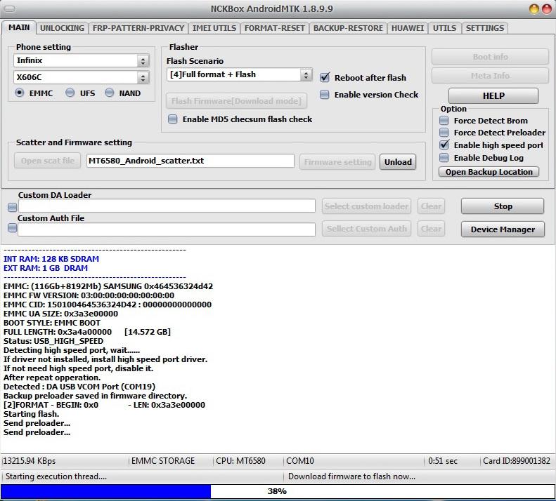 تفليش infinix x690 على العملاق Nck Box - الصفحة 1