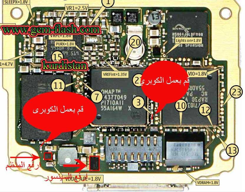 جهازn70 شاشة بيضاء