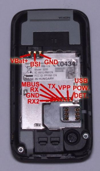 need cable nokia 5200 fbus schematics