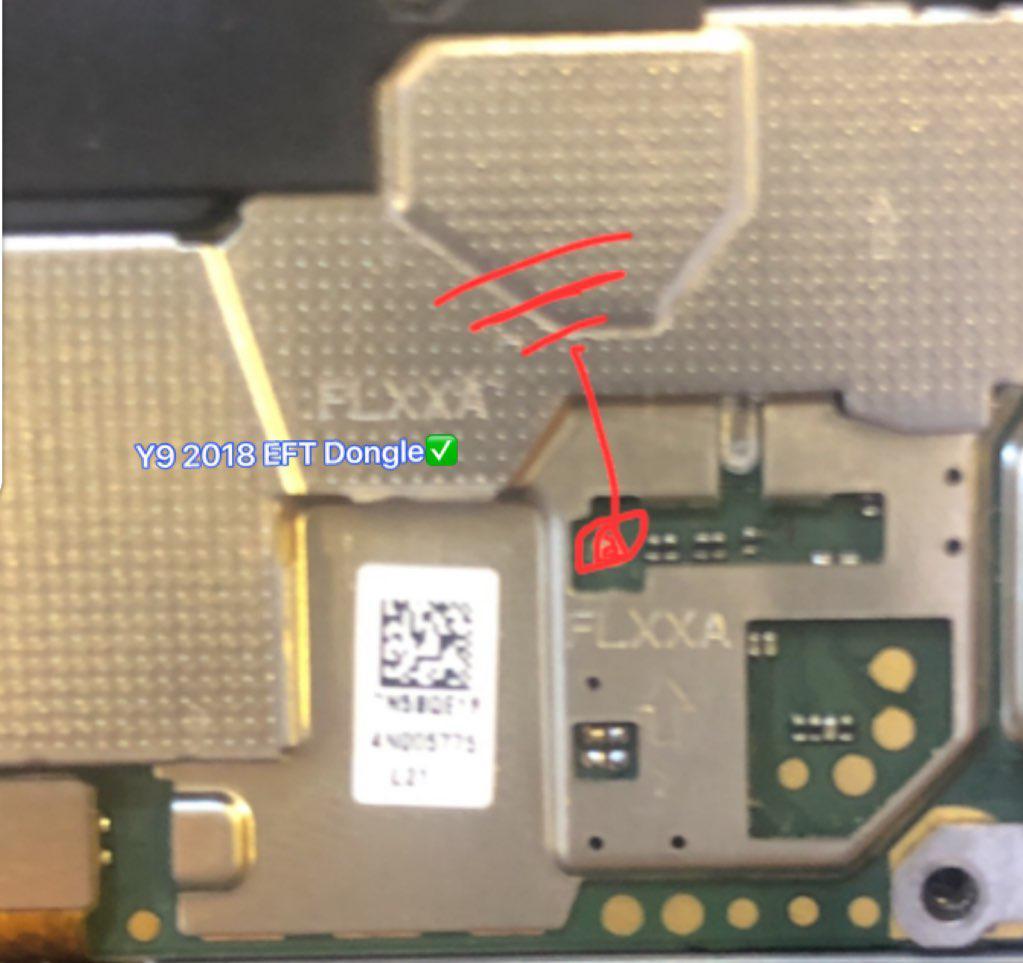 إزالة قفل غوغل عن جهاز  Y9 2018 FLA-LX1 بوضع com 1.0 بواسطة العملاق EFT Dongle