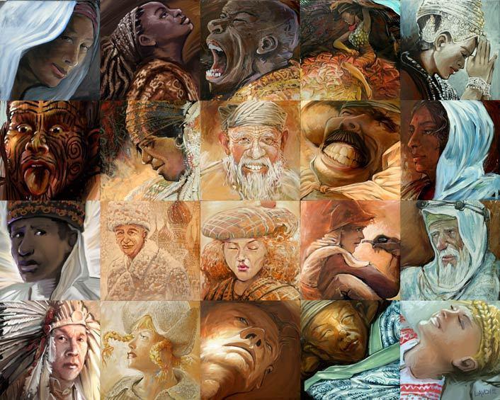 كل لوحة فيها 100 لوحة