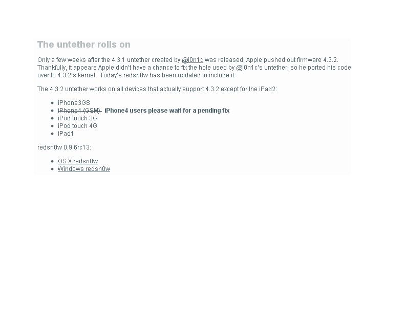 التحديث الاخير ل redsn0w 0.9.6rc14 لحل مشكلة 4G
