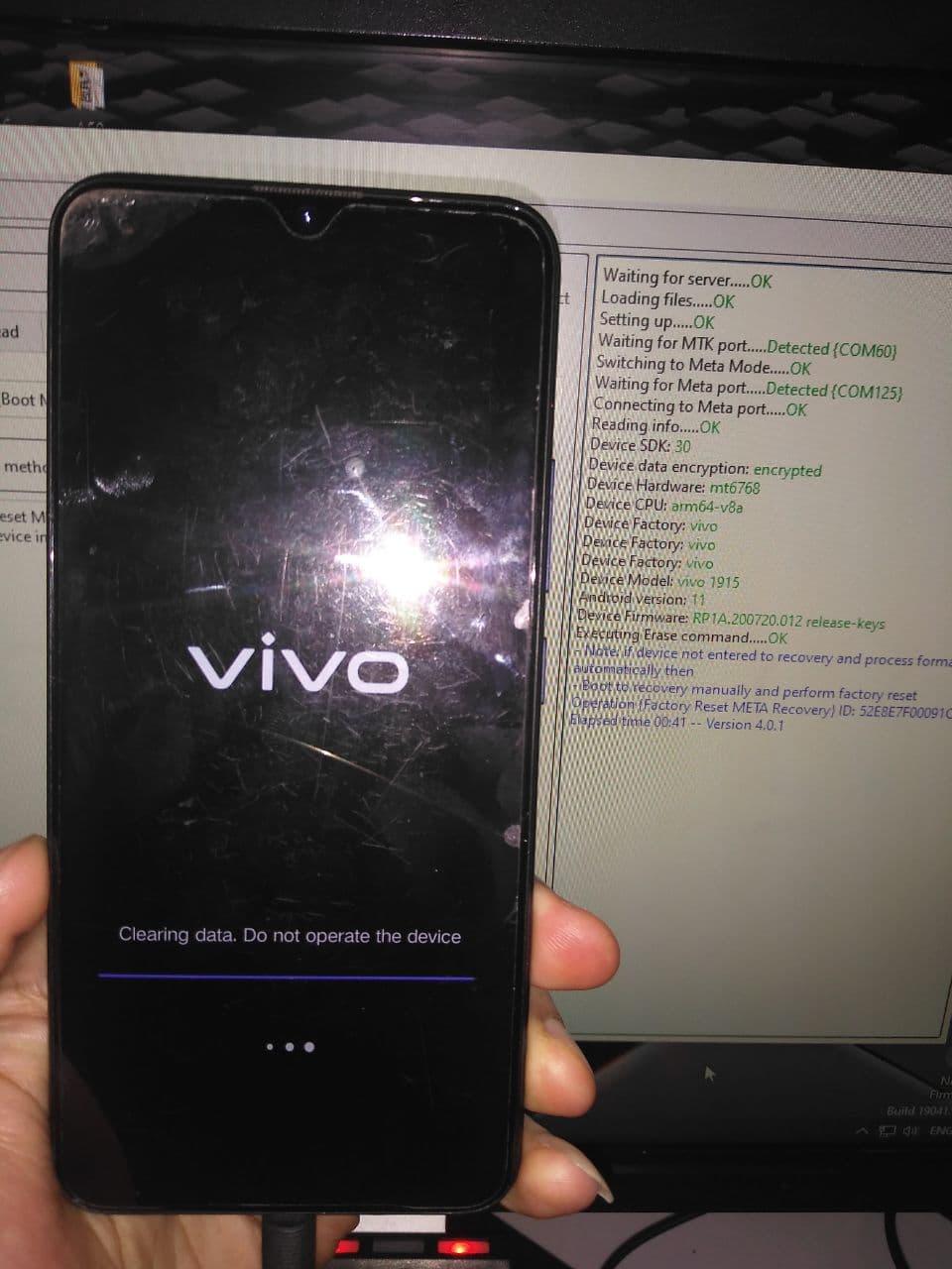 حذف رمز قفل الشاشة VIVO Y19