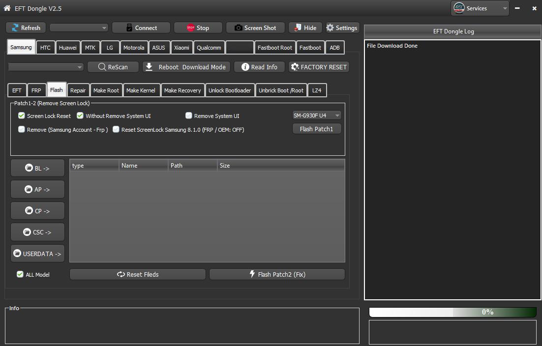 We add G930F U4 G935F U4 Remove Screen Lock Without Lost