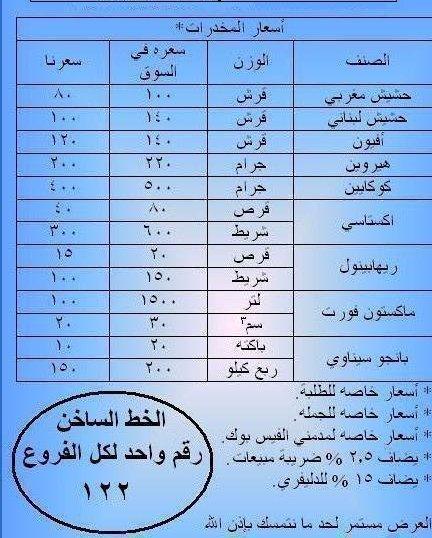 ===>أسعر المخدرات ههههههه<===