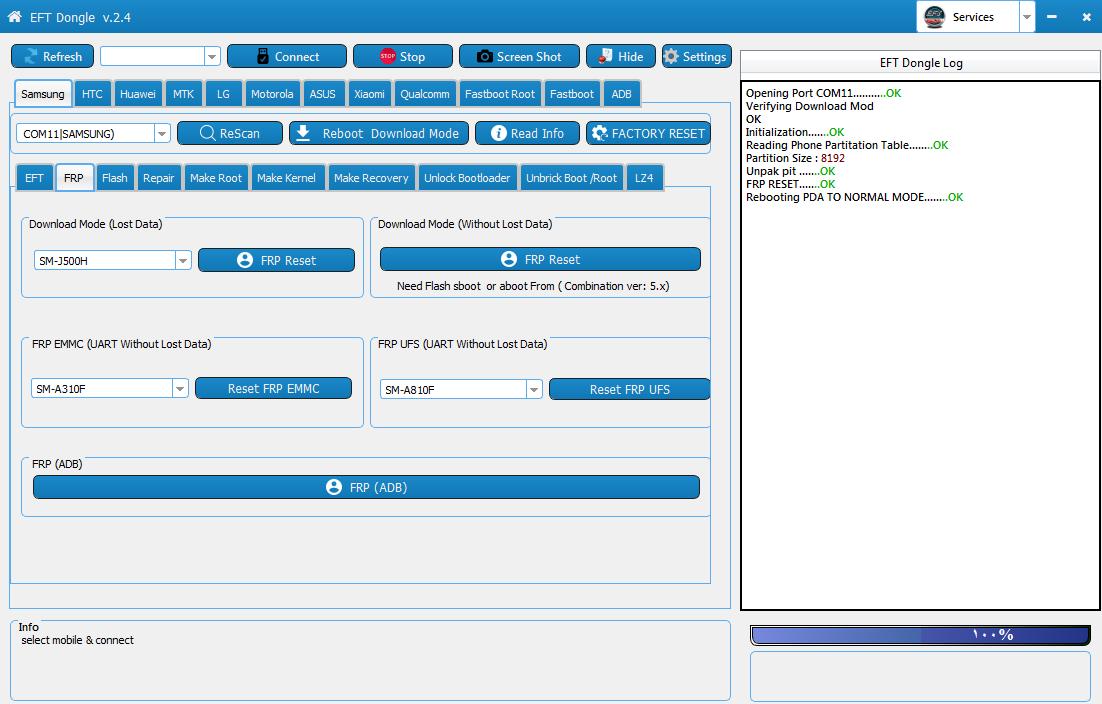 ازالة قفل الFRP لجهاز سامسونغ J500H اصدار 5.1.1 حماية 1 بضغطة زر