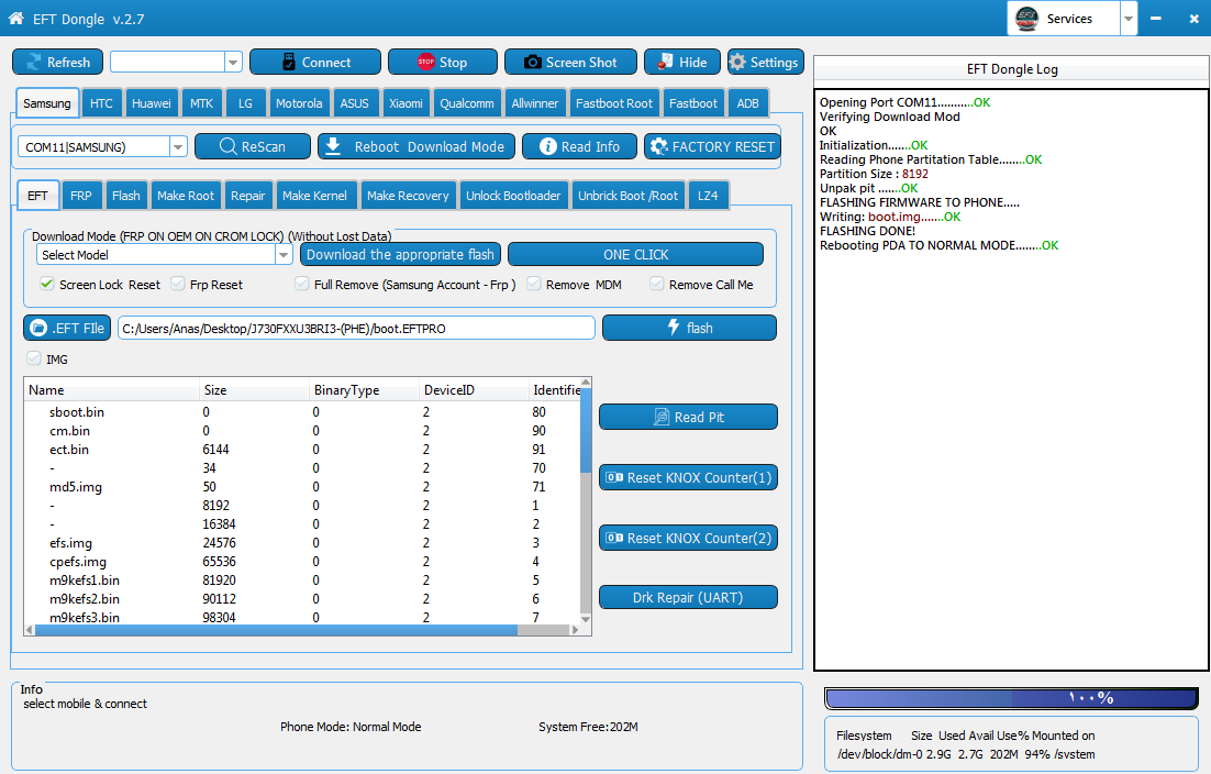 عمل روت لجهاز سامسونغ J7 PRO (J730F) اصدار اندرويد 8.1.0 حماية 3