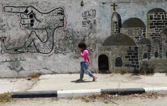 رسومات على الجدار العازل