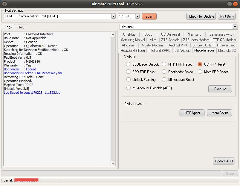 Remove FRP Asus Zenfone Go X00AD done [SUCCESS REPORT] - GSM