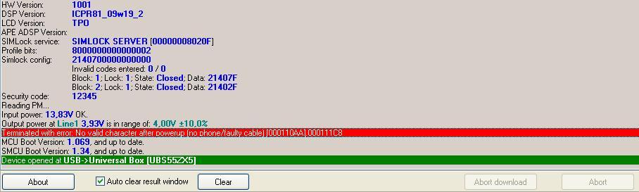 error unlock nokia 6700c