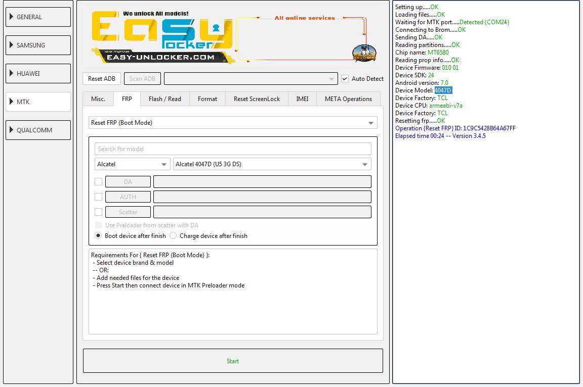 تخطي حساب جوجلAlcatel U5 4047D