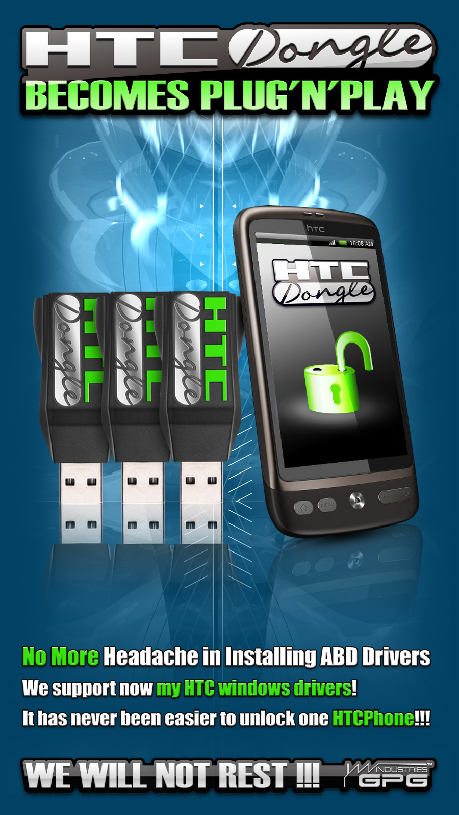 HTCDongle 1.18! MYHTC drivers support added!! Real Plug'n'Play HTC Tool