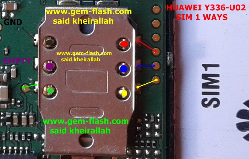 تشريح و اعطال و مسارات هواوي  HUAWEI Y336-U02