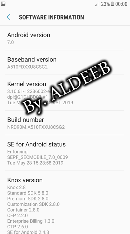 remove frp and samsung account A510f