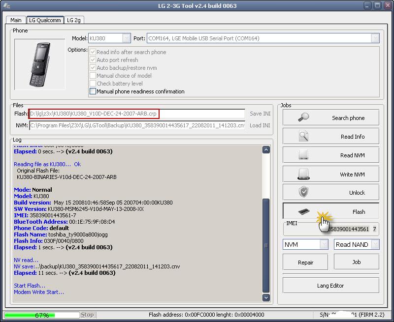 تعريبKU380على Z3X