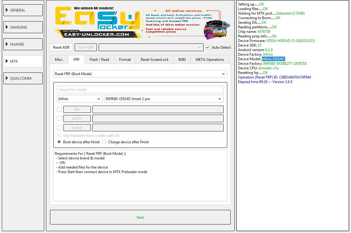 تخطي حساب جوجلInfinix X5514D Smart 2 Pro