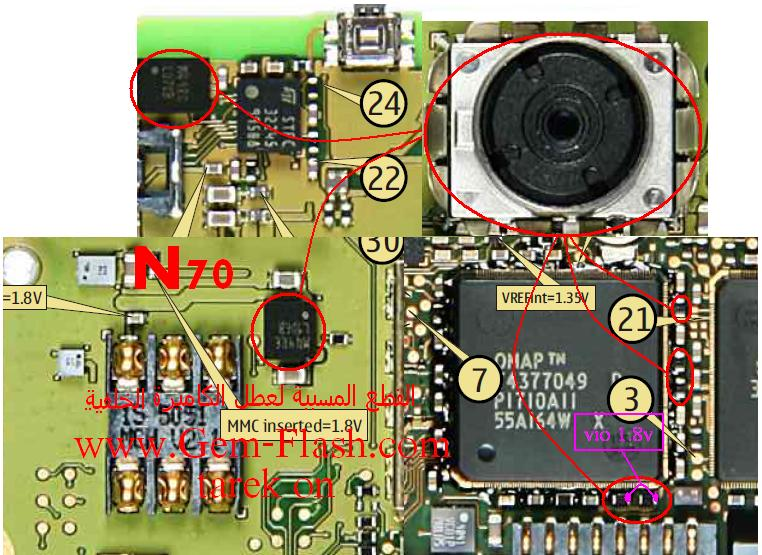 كاميرا حدث عطل غير متوقع اعد تشغيل الجهازn70